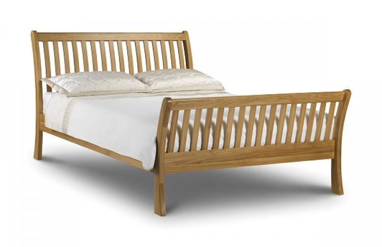 julian bowen leona 4ft6 double oak bed frame by julian bowen - Oak Bed Frame