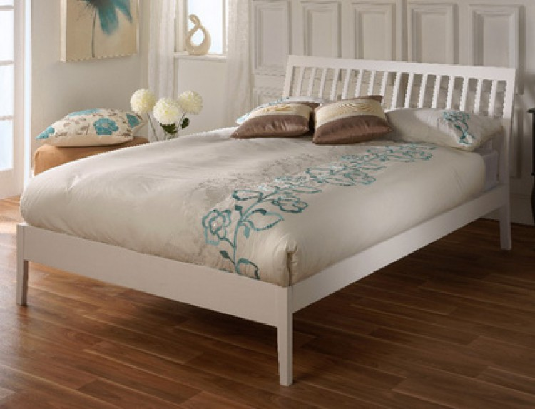 limelight ananke 4ft6 double white wooden bed frame by. Black Bedroom Furniture Sets. Home Design Ideas