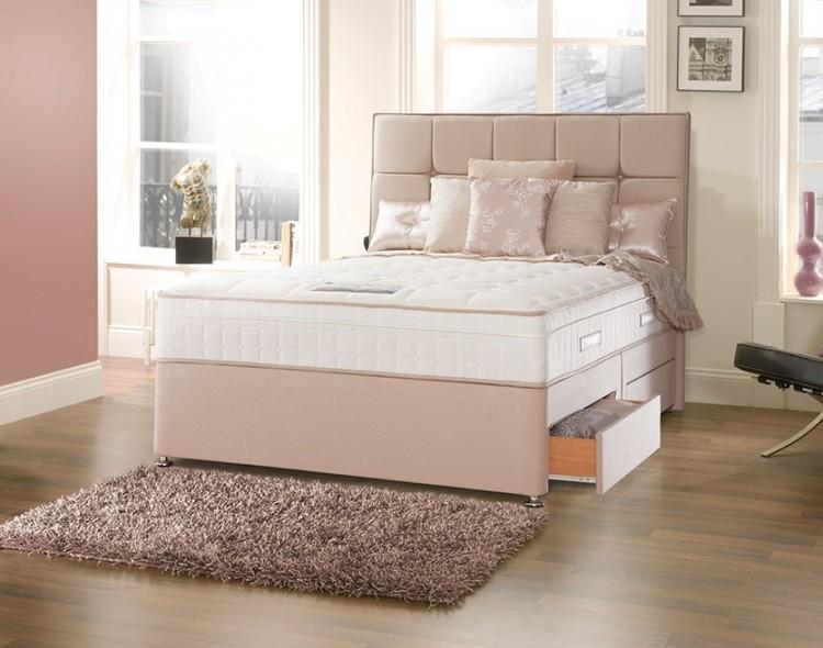 Sealy posturepedic jubilee deluxe 6ft super kingsize divan for 6 foot divan beds