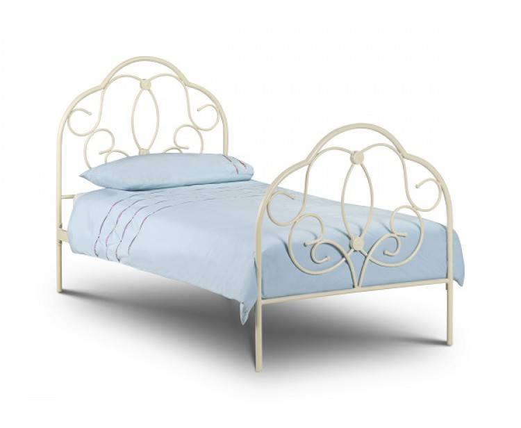 White Metal Single Bed Frames 750 x 616