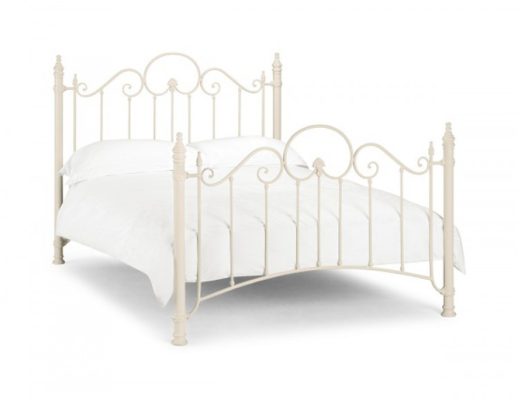White Metal Bed Frame 750 x 576