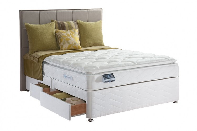 Sealy pearl luxury 3ft single divan bed by sealy for 3 foot divan bed