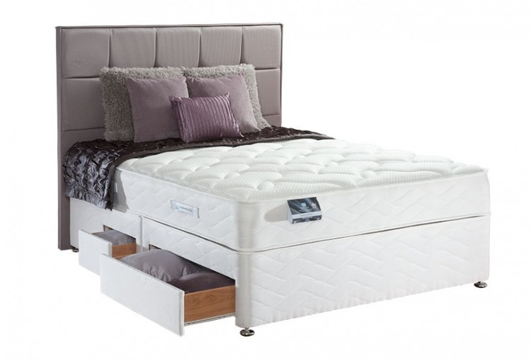 Sealy pearl memory 6ft super kingsize divan bed by sealy for Best single divan beds