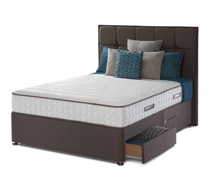 Sealy pearl contour 5ft kingsize divan bed by sealy for 5 foot divan beds