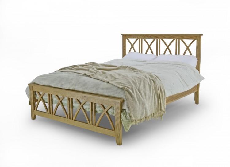 Metal Beds Ashfield 5ft Kingsize Oak Bed Frame By Metal