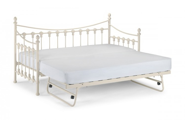 White Metal Trundle Bed Frame 750 x 486