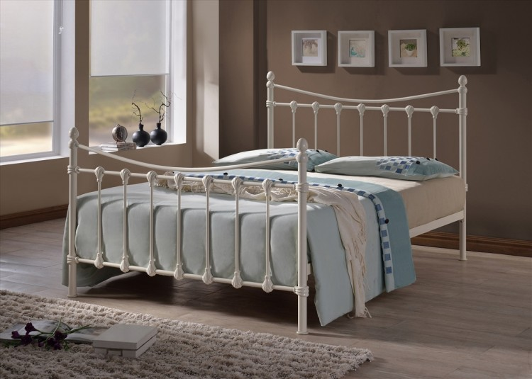 Time Living Florida 3ft Single Ivory Metal Bed Frame By Time Living