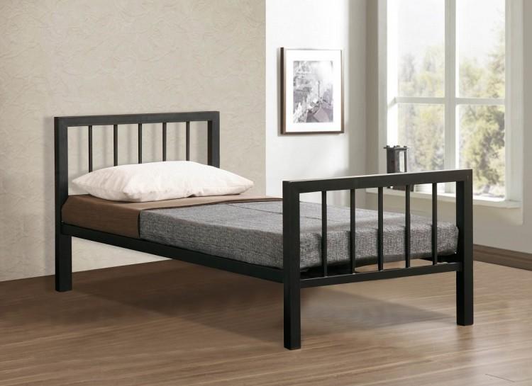 time living metro 3ft single black metal bed frame by time. Black Bedroom Furniture Sets. Home Design Ideas