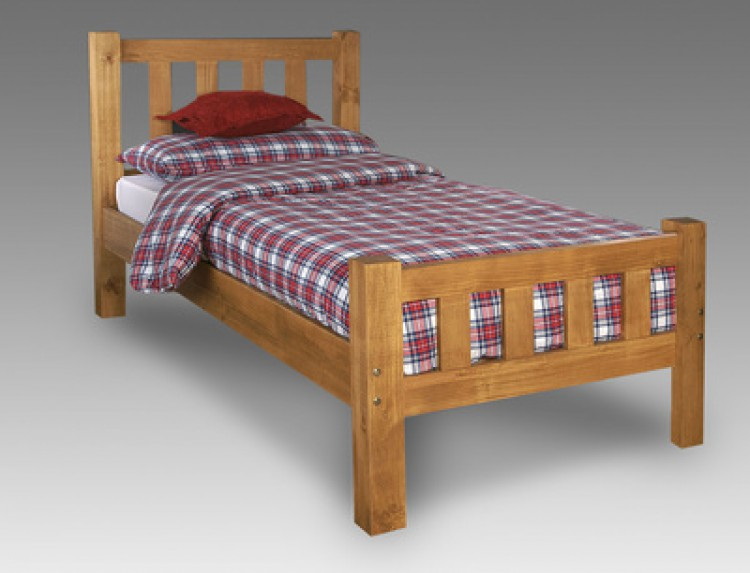 limelight astro 3ft single pine wooden bed frame by beds