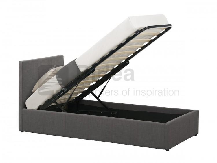 birlea berlin 3ft single grey fabric ottoman bed by birlea. Black Bedroom Furniture Sets. Home Design Ideas