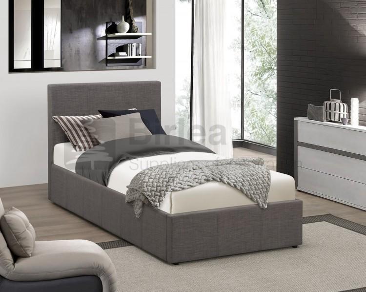 Birlea Berlin 3ft Single Grey Fabric Ottoman Bed By Birlea