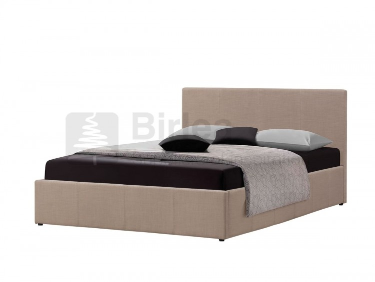 birlea berlin 4ft small double wheat fabric ottoman bed by. Black Bedroom Furniture Sets. Home Design Ideas