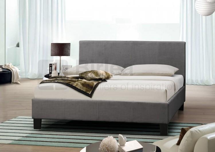 Birlea Berlin 4ft Small Double Grey Fabric Bed Frame By Birlea
