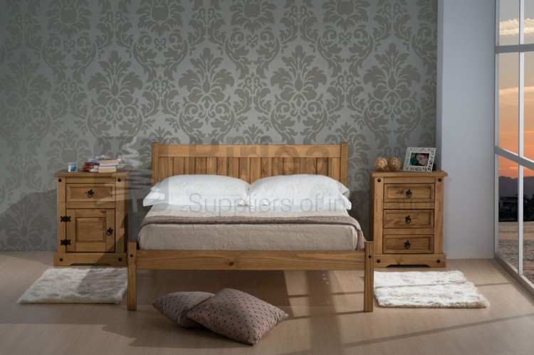 Birlea Rio 4ft Small Double Pine Wooden Bed Frame By