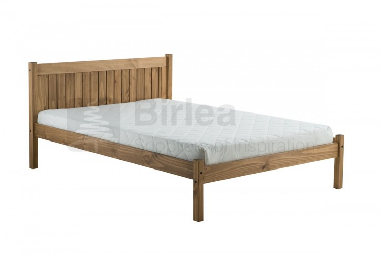Birlea Rio 4ft Small Double Pine Wooden Bed Frame By Birlea