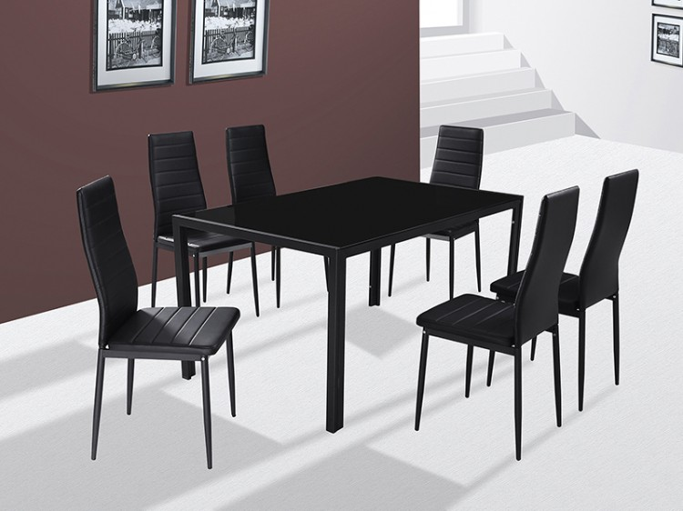 gfw houston dining table set with 6 chairs by gfw