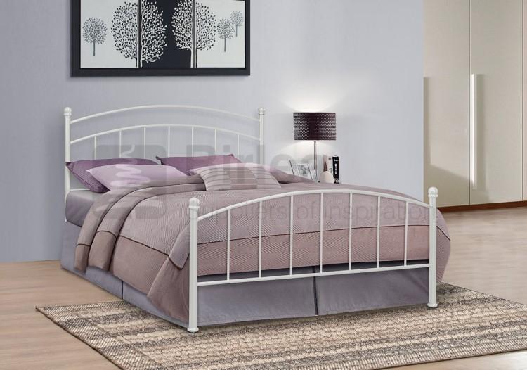 Birlea Eleanor 4ft Small Double White Metal Bed Frame By Birlea