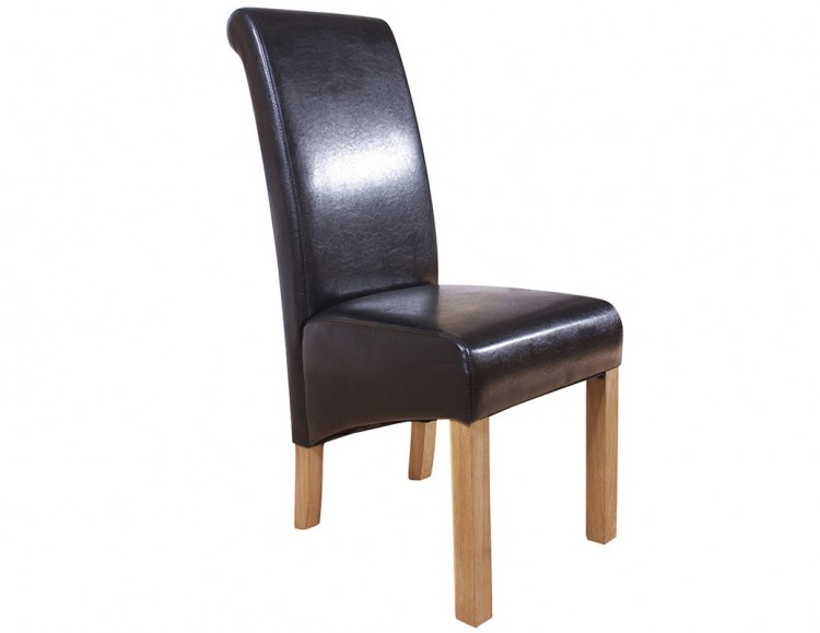Black Faux Leather Chair: GFW Hudson Pair Of Black Faux Leather Dining Chairs By GFW