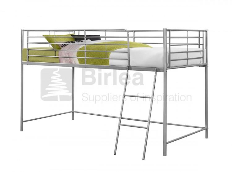 Birlea Luna 3ft Single Silver Metal Mid Sleeper Bed Frame