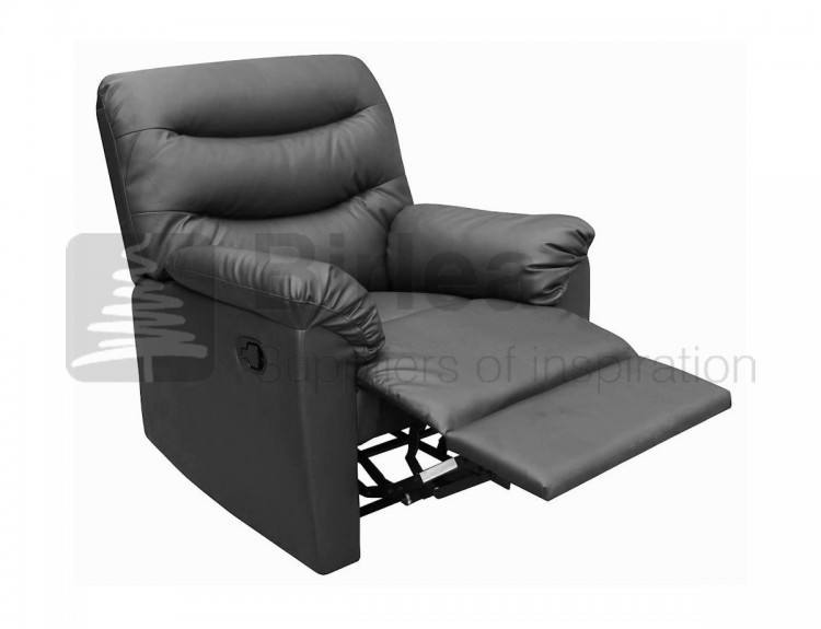 Birlea Regency Black Faux Leather Recliner Chair by Birlea
