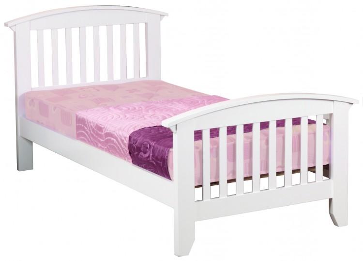 Sweet Dreams Kipling Ruby White 3ft 90cm Single Wooden Bed Frame