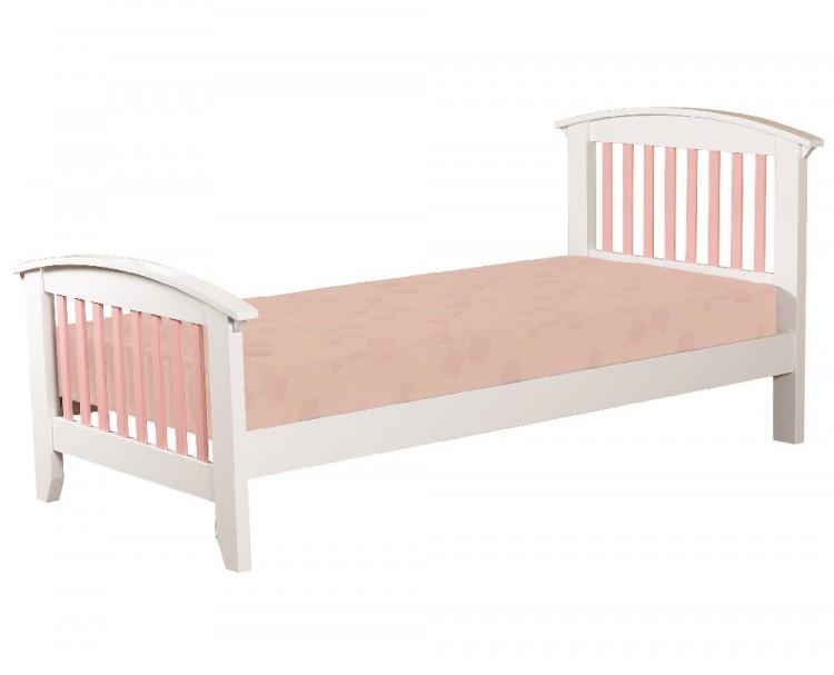 eb0de79fd5d2 Sweet Dreams Kipling Ruby Pink 3ft 90cm single wooden bed frame