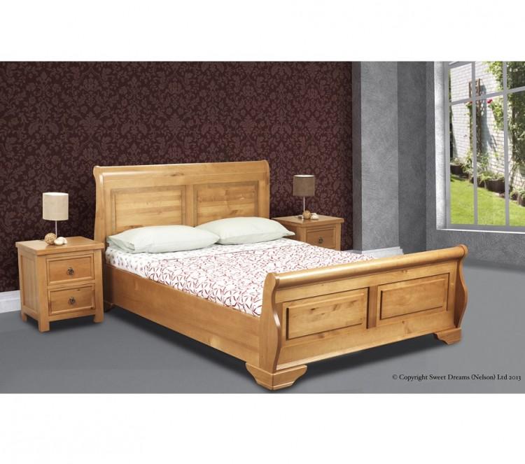 Sweet Dreams Jackdaw 4ft 6 Double Oak Bed Frame By Sweet