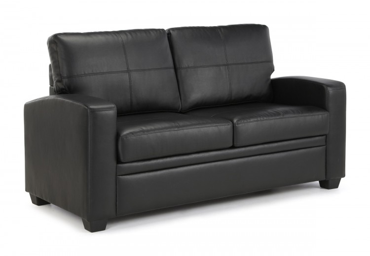 Black faux leather sofa Mainstays Uk Bed Store Serene Turin Black Faux Leather Sofa Bed By Serene Furnishings