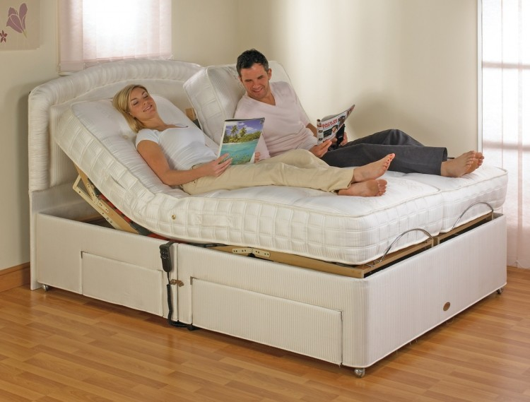 Double Adjustable Beds Electric : Furmanac mibed emily ft double electric adjustable bed