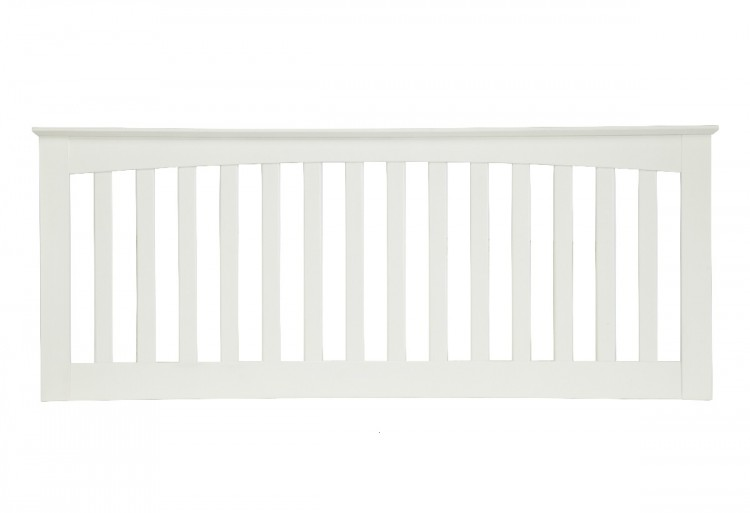 serene amelia 3ft single white wooden headboard