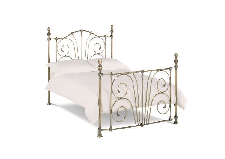 Bentley Rebecca 4ft6 Double Brass Metal Bed Frame By Bentley Designs