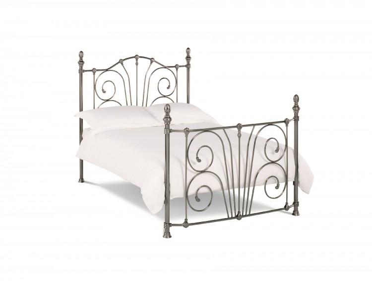 Bentley Rebecca 5ft Kingsize Nickel Metal Bed Frame By Bentley Designs