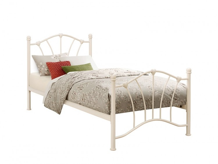 birlea sophia 3ft single cream metal bed frame by birlea. Black Bedroom Furniture Sets. Home Design Ideas