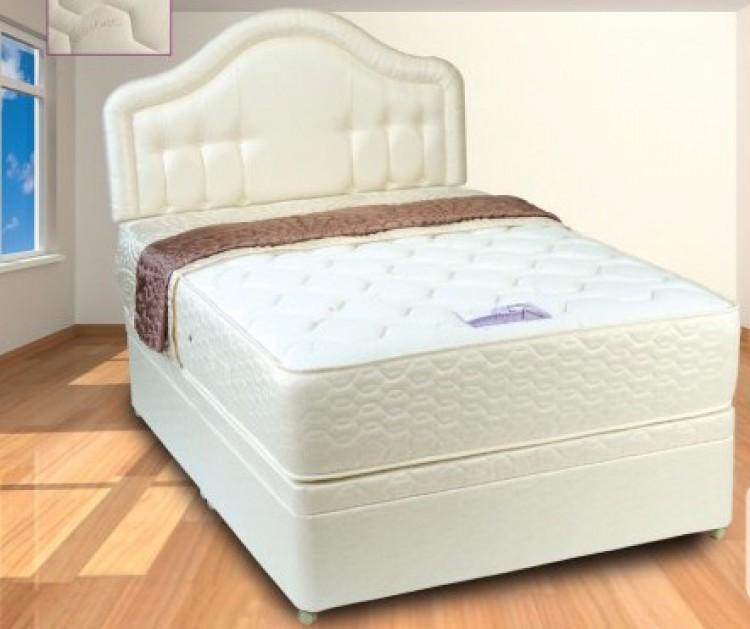 Single 1200 pocket springs with memory foam mattress 5ft for Divan unwind