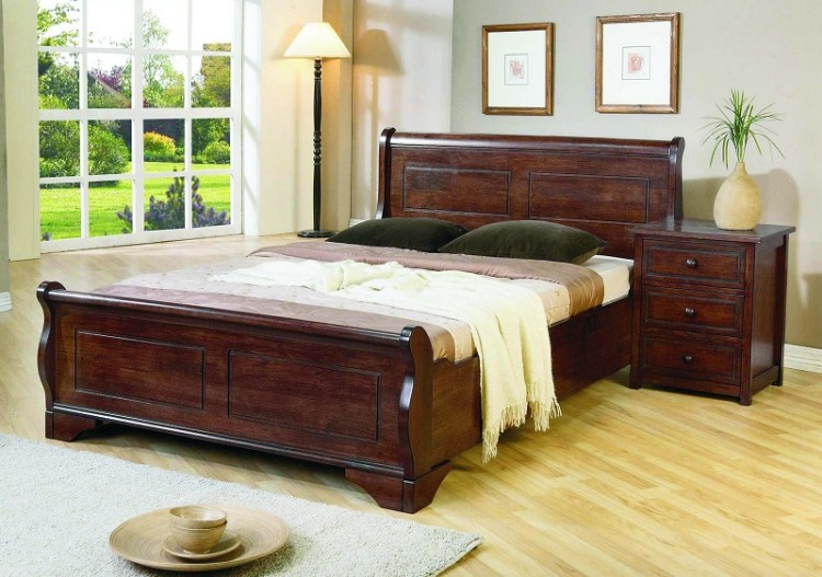 Joseph Louis 4ft Small Double Wooden Bed Frame By Uk Bed Store