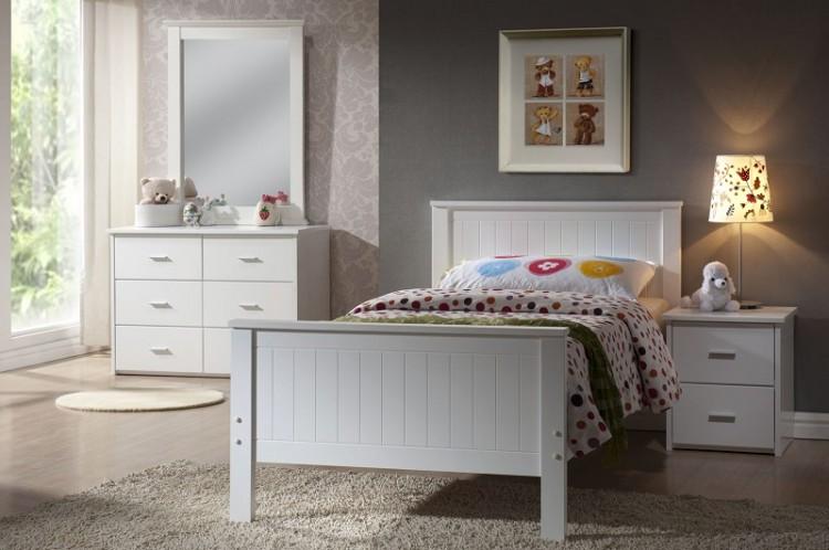 Joseph Larissa 3ft Single White Wooden Bed Frame By Uk Bed Store
