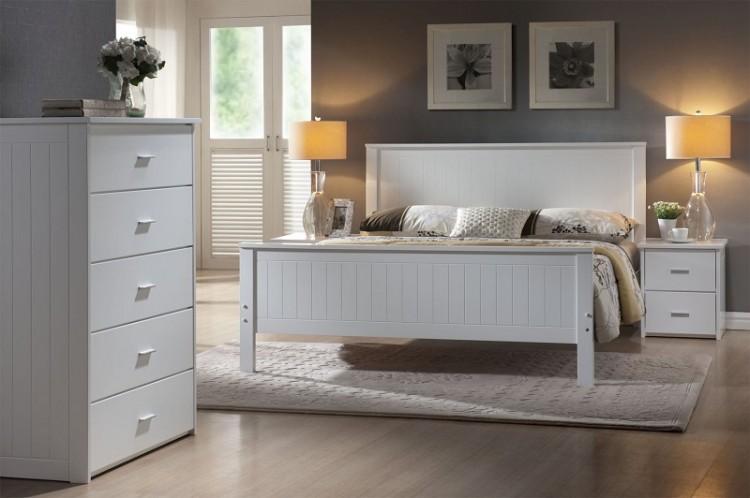 joseph larissa 5ft kingsize white wooden bed frame by joseph international - White Wood Bed Frame
