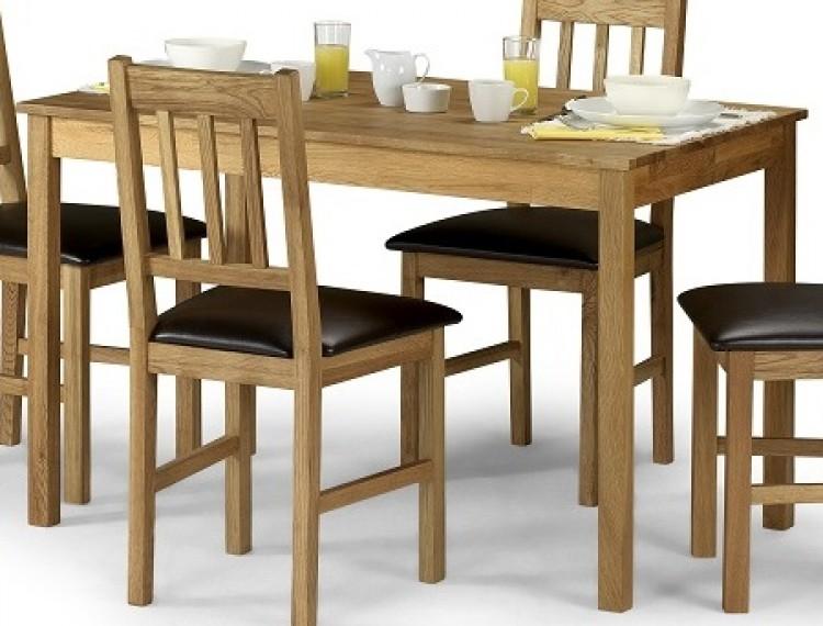 Julian Bowen Moor Rectangle Dining Table In American White Oak Only By