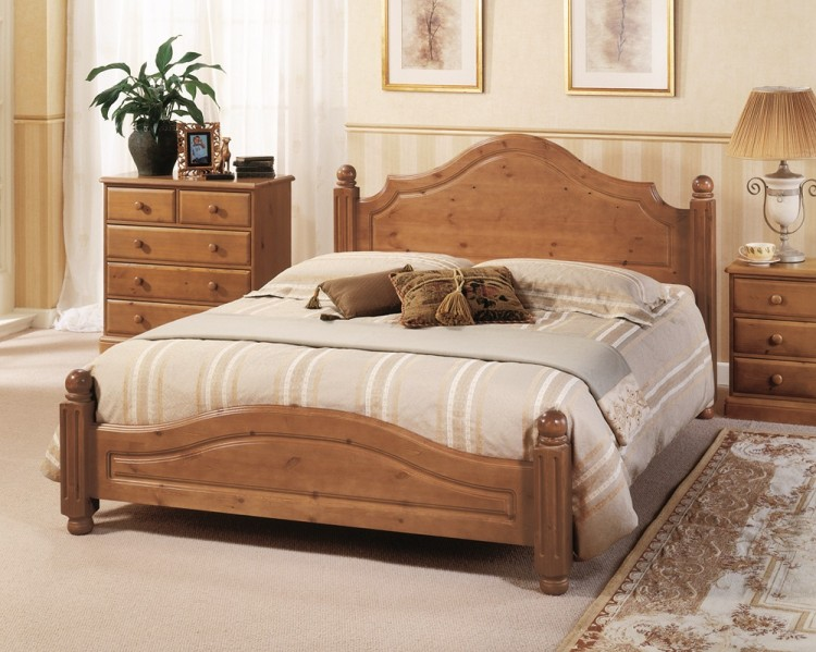 Airsprung Carolina 4ft6 Double Low Footend Cinnamon Wooden