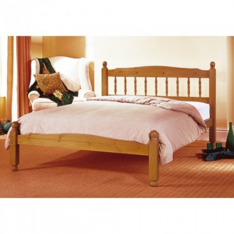 Airsprung Vancouver 2ft6 Small Single Cinnamon Wooden Bed Frame By