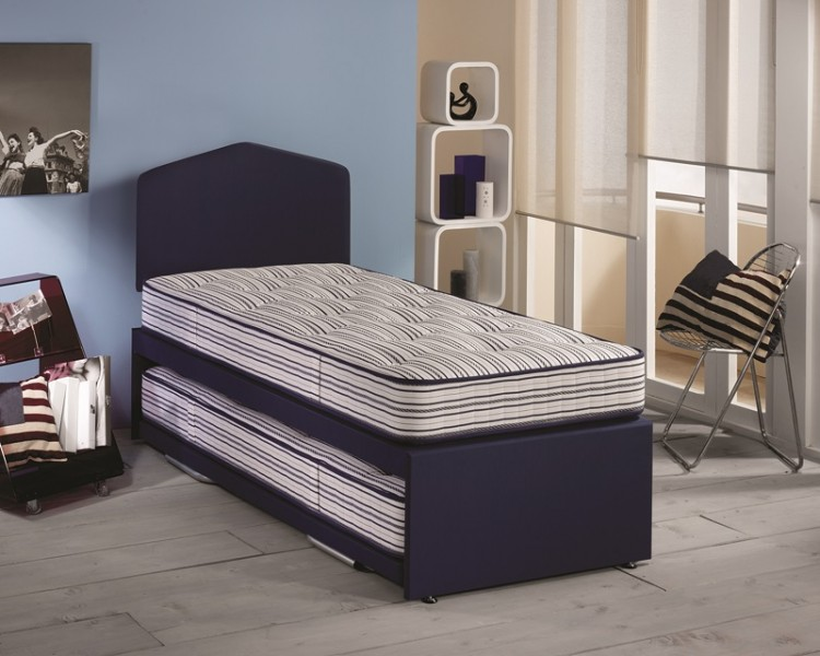 Airsprung ortho sleep 2ft6 small single guest bed by for Best single divan beds