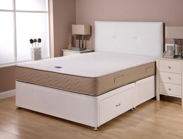 Airsprung catalina supercoil 6ft super kingsize divan bed for 6 foot divan