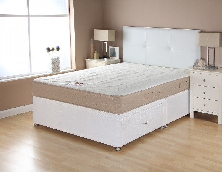 Airsprung catalina memory 5ft kingsize divan bed by for 5 foot divan beds