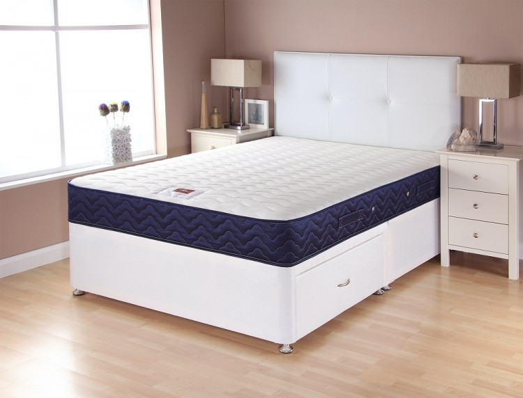 Airsprung catalina memory 5ft kingsize divan bed by for 3 foot divan bed