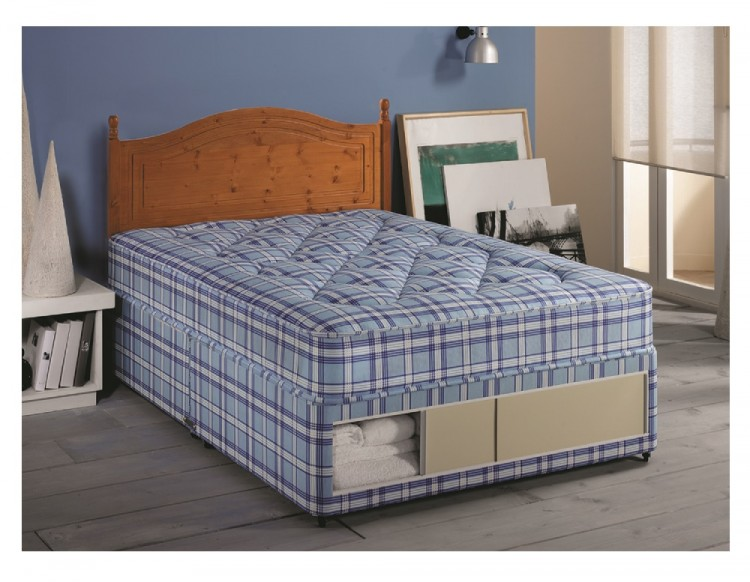 Airsprung ortho comfort 2ft6 small single divan bed by for Best single divan beds