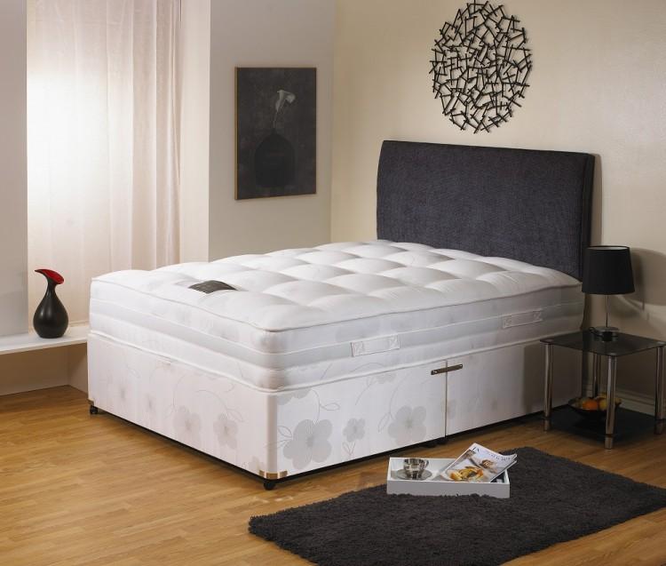 Dura bed supreme 1600 5ft kingsize pocket sprung divan bed for Pocket sprung divan