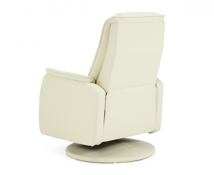 Serene Tonsberg Cream Faux Leather Recliner Chair By