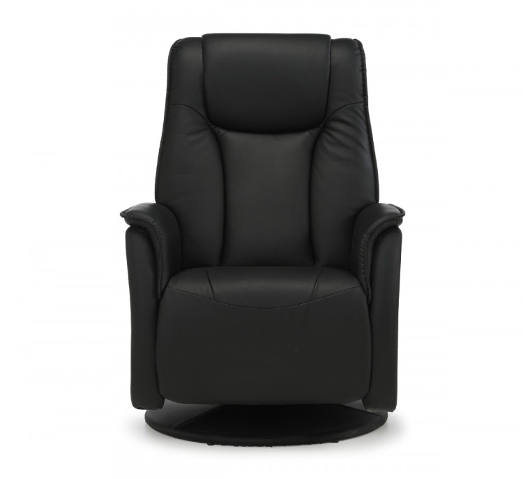 Serene Tonsberg Black Faux Leather Recliner Chair by ...