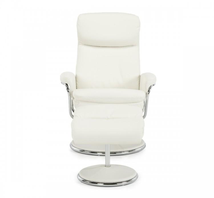serene halden white faux leather recliner chair by serene furnishings. Black Bedroom Furniture Sets. Home Design Ideas