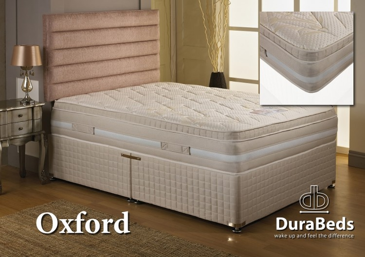 Dura Bed Oxford 1000 Pocket Sprung 6ft Super Kingsize Mattress With Memory Foam By Durabed